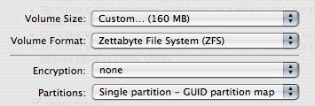 Disk Utility - ZFS